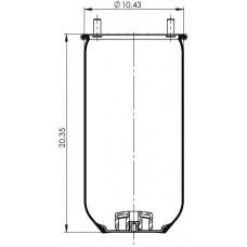 Amerikan Servis Tip Körükler (Pistonsuz) MX-A4201.P