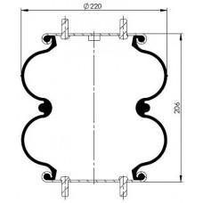 Katlı Körükler 2MX-220.7K